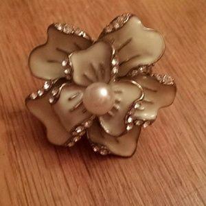 Acrylic Flower Ring